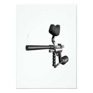 Paintball Gun 4 13 Cm X 18 Cm Invitation Card