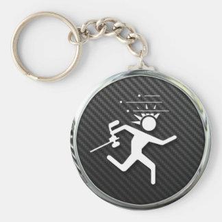 Paintball Icon Basic Round Button Key Ring