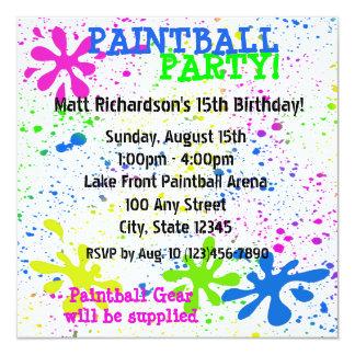 Paintball Invitation