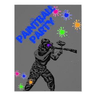 paintball invite1 11 cm x 14 cm invitation card