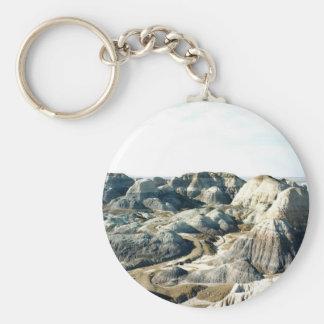 Painted Desert scene 05 Basic Round Button Key Ring