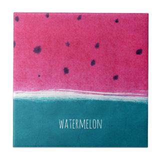 Painted Watermelon tile