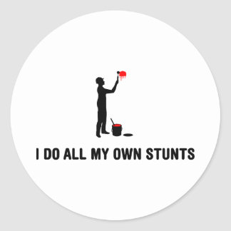 Painter Round Sticker