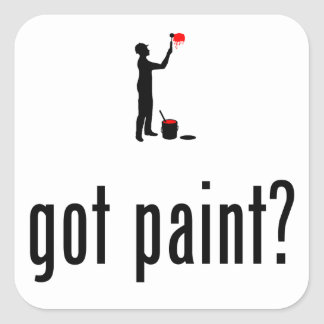 Painter Square Sticker