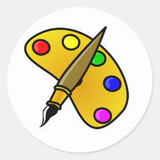 Painters Color Palette Stickers