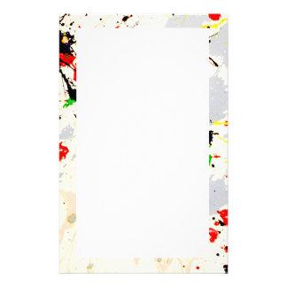 Painting Splatter (3) Custom Stationery