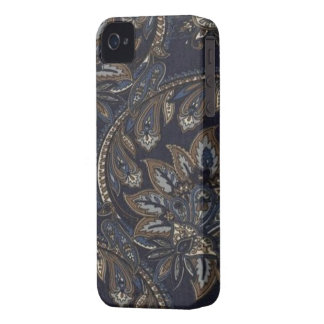 Paisley Denim Print Blackberry Bold 9700/9780 iPhone 4 Case-Mate Cases