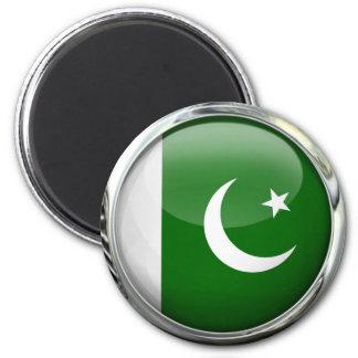 Pakistan Flag Round Glass Ball 6 Cm Round Magnet