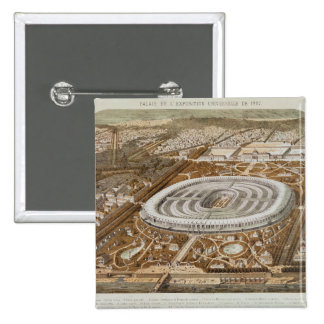 Palace of the Universal Exhibition 15 Cm Square Badge