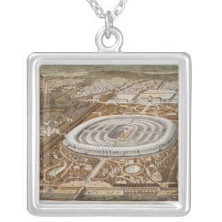 Palace of the Universal Exhibition Square Pendant Necklace
