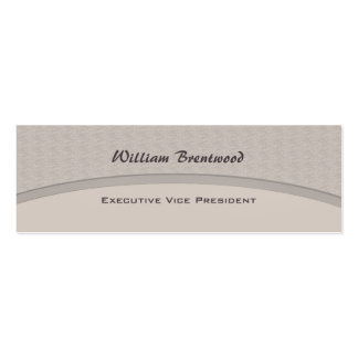 Pale Grey curve Pack Of Skinny Business Cards