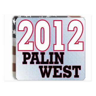 palinWEST 2012 tea PARTY GOP Postcard