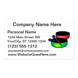 pan black head drums with mallets music percussion pack of standard business cards