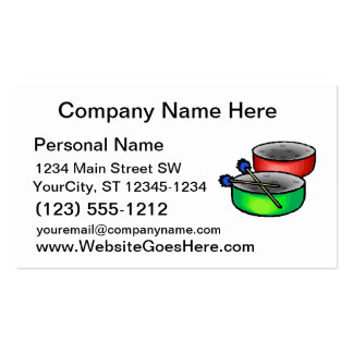 pan drums with mallets music percussion.png pack of standard business cards