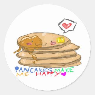 pancakes make me happy sticker