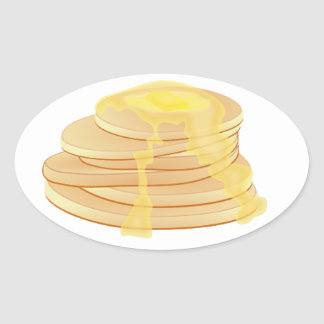 Pancakes stickers - ovals