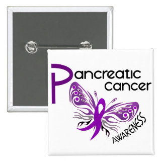 Pancreatic Cancer BUTTERFLY 3.1 15 Cm Square Badge