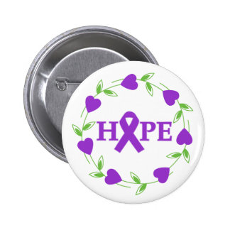 Pancreatic Cancer Hearts of Hope 6 Cm Round Badge