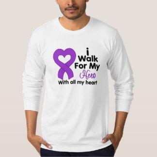 Pancreatic Cancer I Walk For My Hero T-shirt