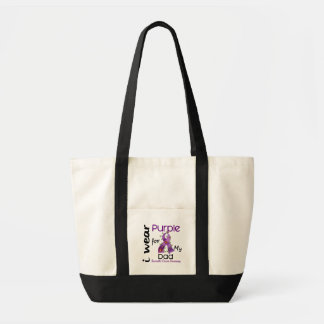 Pancreatic Cancer I Wear Purple For My Dad 43 Impulse Tote Bag