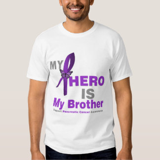 Pancreatic Cancer My Hero is My Brother T Shirts