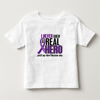 Pancreatic Cancer NEVER KNEW A HERO 2 Aunt Tshirt