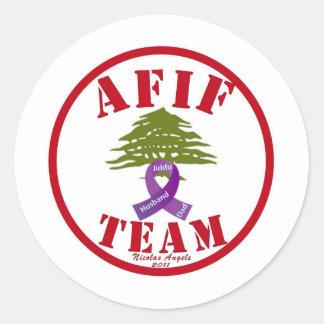 Pancreatic Cancer Round Sticker