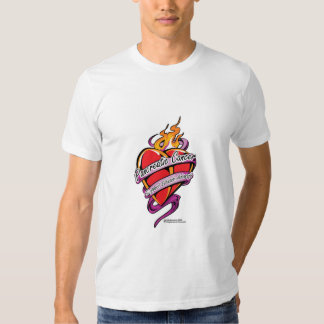 Pancreatic Cancer Tattoo Heart Tees