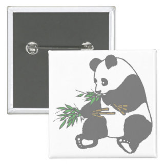 Panda Bear 15 Cm Square Badge