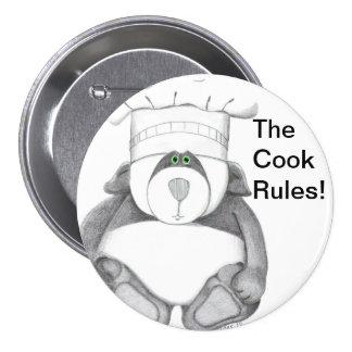 Panda Bear Chef Picture 7.5 Cm Round Badge