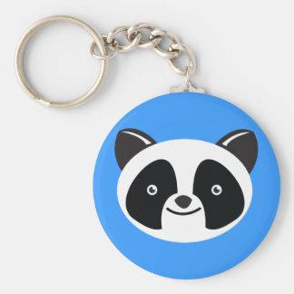 Panda Bear Kawaii face Basic Round Button Key Ring