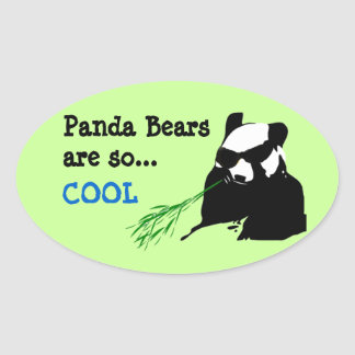 Panda Bears Are So Cool Stickers