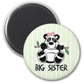 Panda Girl Big Sister 6 Cm Round Magnet