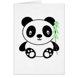 Panda with Bamboo Greeting Card
