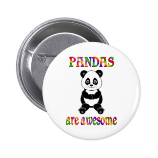 Pandas are Awesome 6 Cm Round Badge