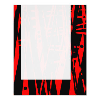 Panel 020 - Abstract in Red and Black 11.5 Cm X 14 Cm Flyer