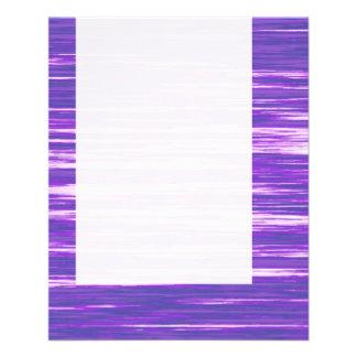 Panel 03 - Purple Interference 11.5 Cm X 14 Cm Flyer