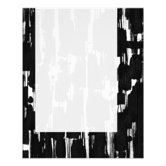 Panel 060 - Abstract in Black 11.5 Cm X 14 Cm Flyer