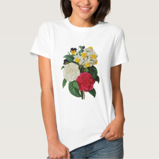 Pansy, Narcissus and Camellia Bouquet By Redoute Tees