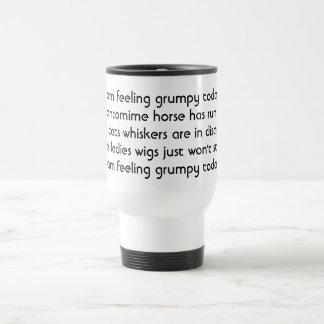 Pantomime. Poem. Black White Stainless Steel Travel Mug