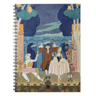 Pantomime Stage, illustration for 'Fetes Galantes' Spiral Note Book