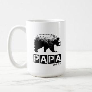 Papa Bear for Dad 2014, Grunge Black Basic White Mug