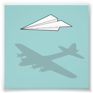 Paper Airplane Overactive Imagination Photo Print