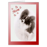 Papillon Dog Valentine for Mum Greeting Card