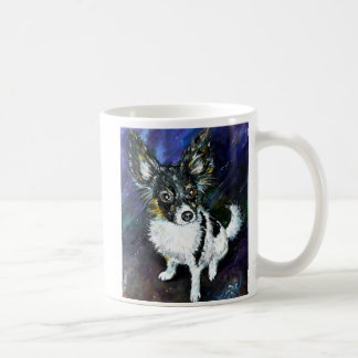 Papillon puppy basic white mug