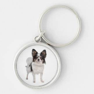 Papillon Puppy Dog keychain