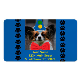 Papillon Puppy Dressed as a Clown Pack Of Standard Business Cards