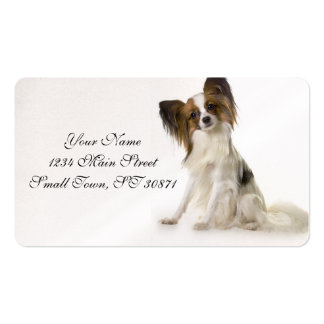 Papillon Puppy interrogative Pack Of Standard Business Cards