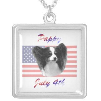 Pappy July 4th Square Pendant Necklace