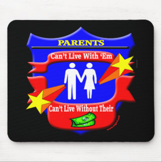 Parents Funny T-shirts Gifts Mouse Pad